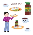 Cartoon coffee icons vector