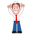 Businessman happy and thanking god vector