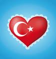 Heart shape flag of turkey vector