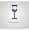 Glass of wine icon vector