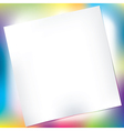Notepad over colorful background vector