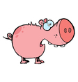 Pig with an open mouth vector
