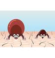 Ticks in pasture vector