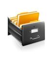 Open card catalog vector
