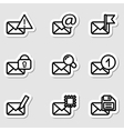 Envelopes icons as labels vol2 vector