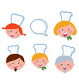 Cute cooking and icons set vector