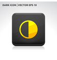 Brightness icon gold vector