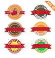 Label stitch template sticker tag - - eps10 vector