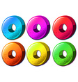 Colourful round object vector
