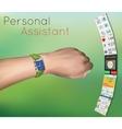 Smart watches on hand vector