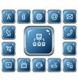Communication buttons vector