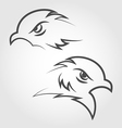 Icon eagle heads outline style vector