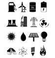 Power energy icons set vector