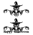 Halloween graphic of witch or warlock vector