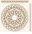 Seamless pattern stylized as henna vector