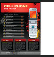 Cell phone promotional brochure vector