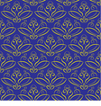 Seamless background with ornament yellow on blue vector