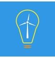 Bulb with wind turbine as eco energy sign vector