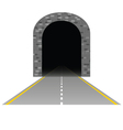Tunnel with road one vector