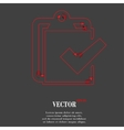 Notepad paper documents flat modern web button and vector