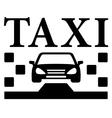 Black taxi icon vector