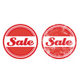 Sale retro grunge badges vector