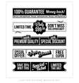 Vintage typographic business banner design vector