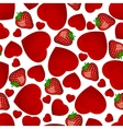 Seamless pattern from hearts vector