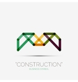 Abstract line composition icon company logo vector