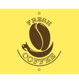 Fresh coffee poster or banner vector