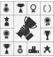 Set of trophy and award icons vector