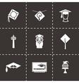 Academic cap icon set vector