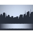 Background with city landscape vector