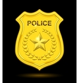 Gold police badge vector