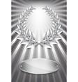 Laurel award silver vector