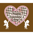 Valentines day over brown background vector