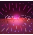 St valentines day greeting card with hearts vector