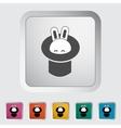 Rabbit in magician hat vector