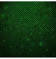 Futuristic shining green technology backgorund vector