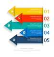 Modern business infographics abstract arrows vector