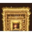 Golden light star burst vector