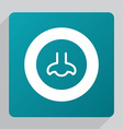 Flat nose icon vector