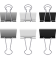 Binders clips vector