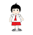 Boy student red vector