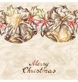 Christmas and new year holidays hand drawn card vector