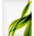 Green eco abstract line composition vector