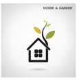 Green energy home concept vector