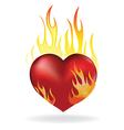 Heart fire vector