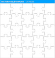 Complete puzzle jigsaw template 25 pieces vector