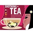 Girl soothing tea vector